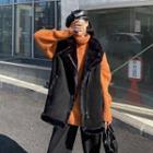 Furry-trim Vest