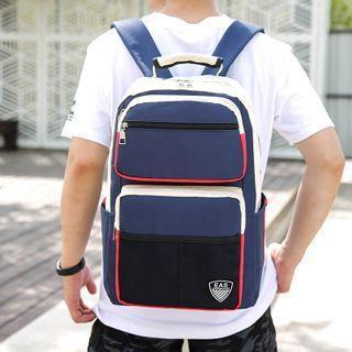 Lightweight Color Panel Backpack Black - One Size