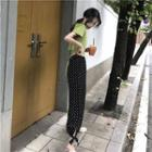 Polka Dot Cropped Harem Pants