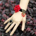 Flower Bracelet With Ring