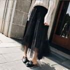 Maxi Mesh Skirt