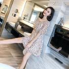 Dotted Chiffon Mini Dress