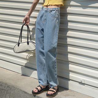 Straight Leg High Waist Jeans