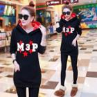 Applique Hooded Long Pullover