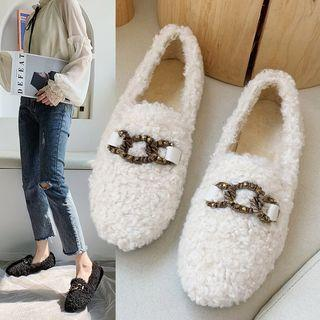 Faux Shearling Loafers