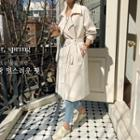 Wrap-front Trench Coat With Sash