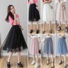 Midi Chiffon Tulle Skirt
