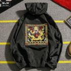 Dragon Embroidered Hooded Jacket