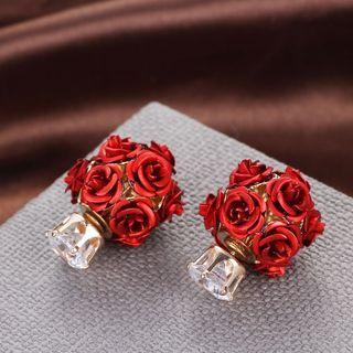 Rose Double-sided Earrings