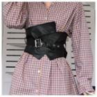 Faux Leather Corset Belt Belt - One Size