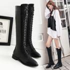 Pointy Toe Lace Up Tall Boots