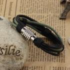 Stainless Steel Spring Layered Bracelet 892 - Bracelet - One Size