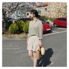 Band-waist Pleated Linen Blend Shorts