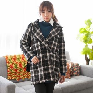 Plaid Single-breasted Coat