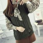 Distressed Cable-knit Sweater Vest