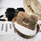 Belted Furry Crossbody Bag