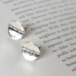 Metallic-disk Earrings