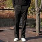 Wool Blend Straight-cut Dress Pants