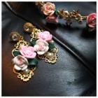 Rose Faux Pearl Earrings