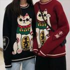 Lucky Cat Sweater