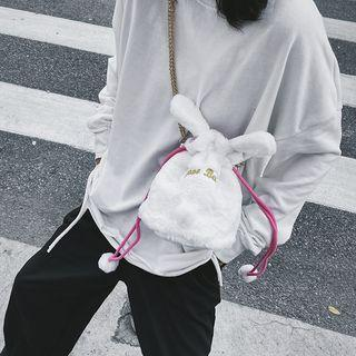 Chain Strap Furry Rabbit Crossbody Bag As Shown In Figure - One Size