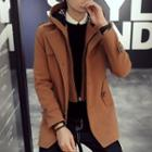 Knit Coat With Detachable Coat