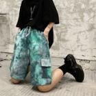 Tie-dye Wide-leg Shorts