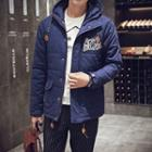 Hooded Applique Padded Jacket