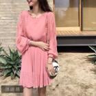 Lace Details Chiffon Dress