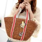 Anchor Straw Tote Brown - One Size