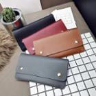 Faux Leather Studded Long Wallet