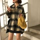 Gingham Long-sleeve Shirt Black - One Size
