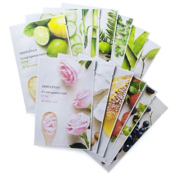 Innisfree - It's Real Squeeze 10-piece Variety Mask 10 Pcs