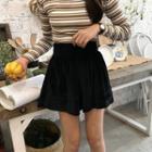 Elastic Waist Velvet Shorts