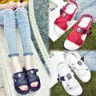 Velcro Mesh Platform Sandals