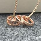 Ring Earring Rose Gold - One Size