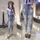 High-waist Harem Jeans
