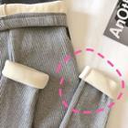 Fleece-lined Ribbed Knit Leggings