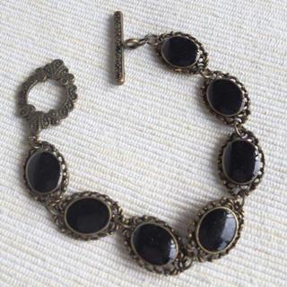 Vintage Style Copper Bracelet (black) One Size