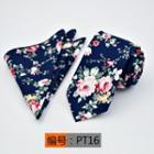 Set: Patterned Necktie + Pocket Square