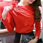 Long-sleeve Bow Top