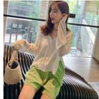 Plain Knit Top / Shorts