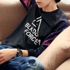 Galaxy Print Raglan Sweatshirt