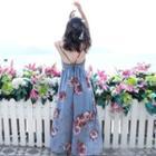 Floral Strappy Maxi Sun Dress