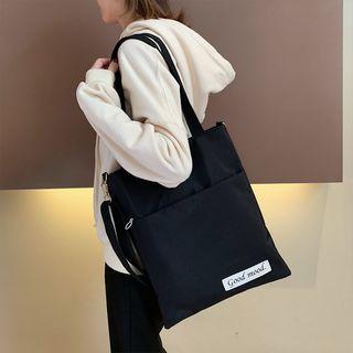 Applique Nylon Tote Bag