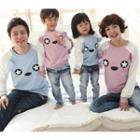 Family Matching Bear Print Pullover
