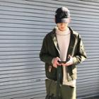 Applique Utility Zip Jacket