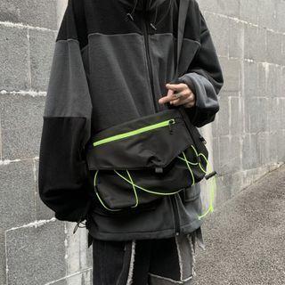 Drawcord Messenger Bag