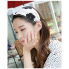 Floral Pattern Fabric Wide Hair Band