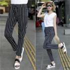 Band-waist Striped Pants